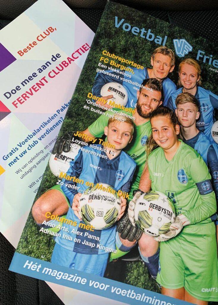 Flyer Fervent Clubactie met Voetbal Friesland Magazine